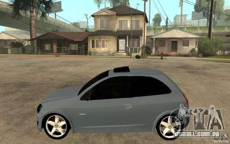 Chevrolet Celta VHC 2011 para GTA San Andreas esquerda vista