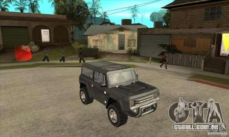 Ford Bronco Concept para GTA San Andreas vista traseira