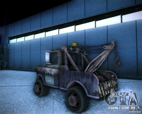 Car Mater para GTA San Andreas esquerda vista