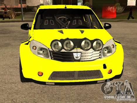 Dacia Sandero Speed Taxi para GTA San Andreas vista interior
