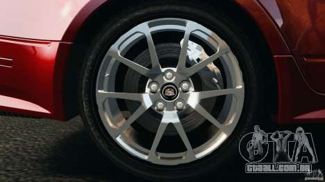 Cadillac CTS-V 2009 para GTA 4 vista lateral