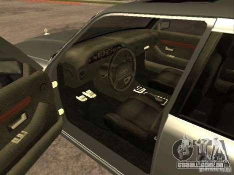 HD Sentinel para GTA San Andreas traseira esquerda vista