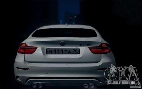 BMW X6M E71 para GTA San Andreas vista traseira