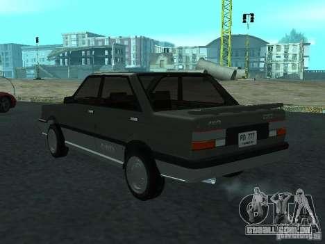 Nissan Sanny 1500 (B12) para GTA San Andreas esquerda vista