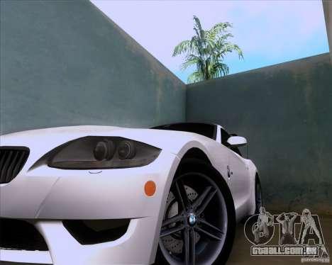 BMW Z4 M Coupe para GTA San Andreas vista traseira