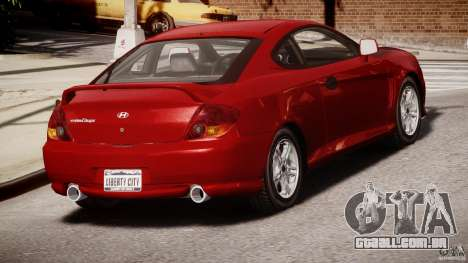 Hyundai Tiburon tunable para GTA 4 vista lateral