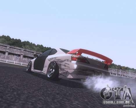 Nissan Silvia S15 Street para GTA San Andreas traseira esquerda vista