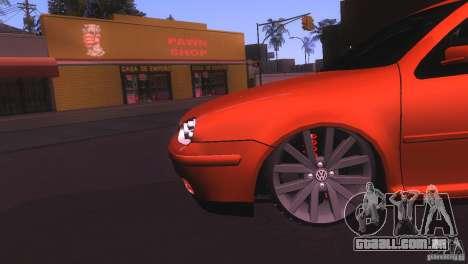 Volkswagen Golf IV para GTA San Andreas vista direita