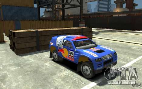 Volkswagen Touareg Rally para GTA 4 vista de volta