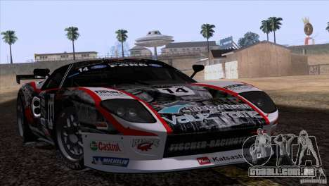 Ford GT Matech GT3 Series para GTA San Andreas vista superior