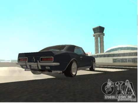 Chevrolet Camaro SS 396 Turbo-Jet para GTA San Andreas vista traseira