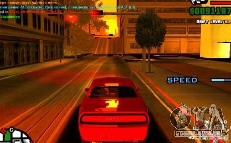Piloto automático para carros para GTA San Andreas terceira tela