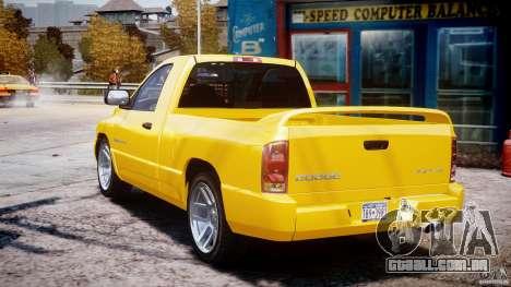 Dodge Ram SRT-10 2003 1.0 para GTA 4 vista lateral