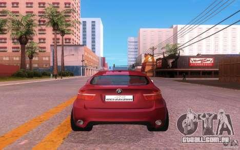 BMW X6 Tuning para GTA San Andreas vista traseira