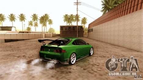 Acura RSX Spoon Sports para GTA San Andreas vista inferior