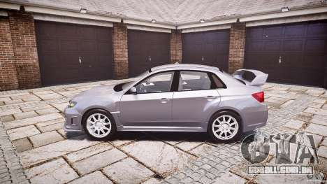 Subaru Impreza WRX 2011 para GTA 4 esquerda vista