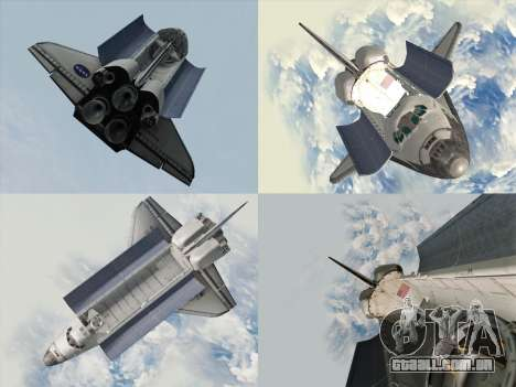 Space Shuttle para vista lateral GTA San Andreas