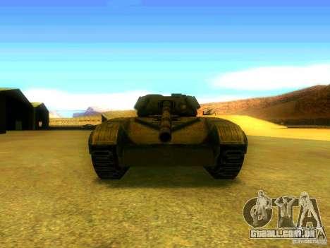 Tanque jogo S. T. A. L. k. e. R para GTA San Andreas vista traseira