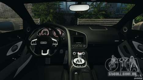 Audi R8 V10 2010 para GTA 4 vista de volta