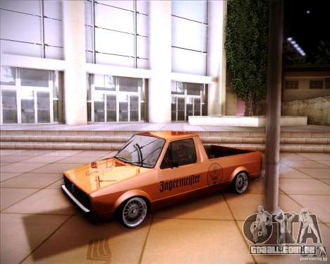 Volkswagen Caddy Custom 1980 para GTA San Andreas vista traseira