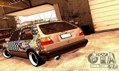 Volkswagen MK II GTI Rat Style Edition para GTA San Andreas vista direita