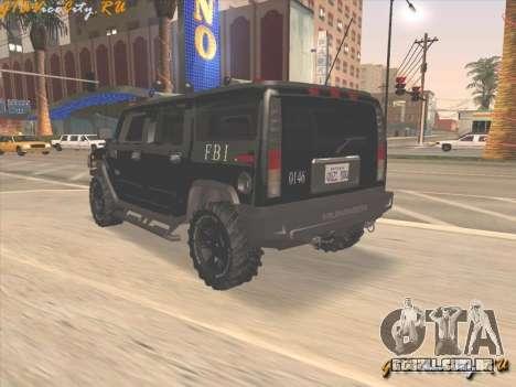 FBI Hummer H2 para GTA San Andreas esquerda vista