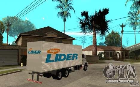 Camiun Hiper Lider para GTA San Andreas vista direita