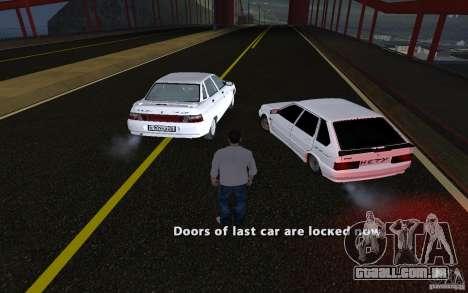 Remote lock car v3.6 para GTA San Andreas por diante tela