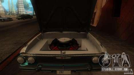 Chevy Impala SS 1961 para GTA San Andreas vista interior