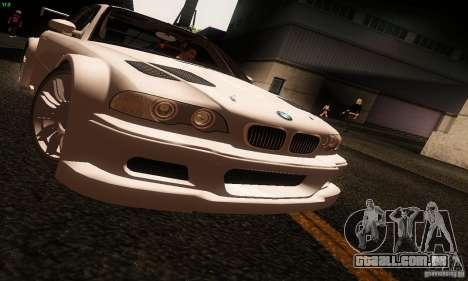 BMW M3 GTR v2.0 para GTA San Andreas traseira esquerda vista