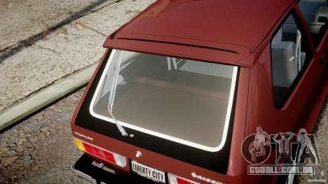 Volkswagen Rabbit 1986 para GTA 4 vista superior