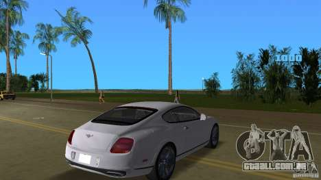 Bentley Continental Supersport para GTA Vice City vista direita