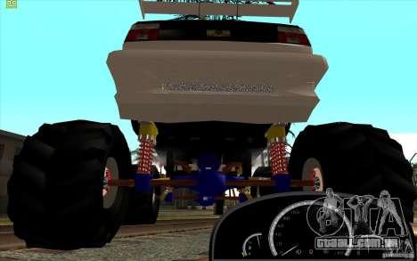 Jetta Monster Truck para GTA San Andreas traseira esquerda vista