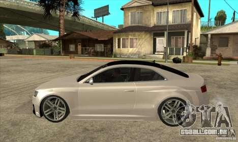 Audi S5 Quattro Tuning para GTA San Andreas esquerda vista