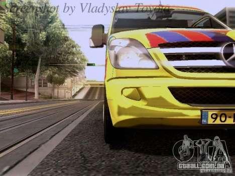 Mercedes-Benz Sprinter Ambulance para GTA San Andreas vista interior