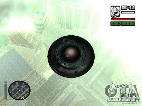 UFO para GTA San Andreas traseira esquerda vista