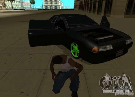 Elegy Green Drift para GTA San Andreas vista traseira