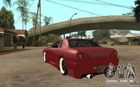 Elegy Modified para GTA San Andreas traseira esquerda vista