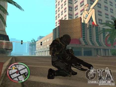 Armas alienígenas de Crysis 2 para GTA San Andreas por diante tela