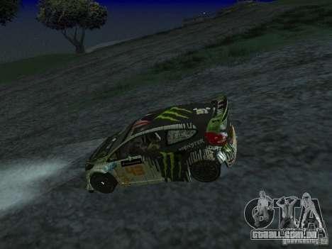 Ford Fiesta Ken Block WRC para GTA San Andreas vista direita