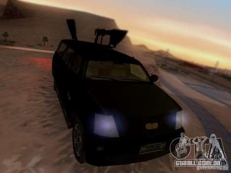 Suv Call Of Duty Modern Warfare 3 para GTA San Andreas traseira esquerda vista