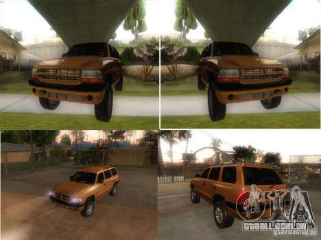 Dodge Durango 1998 para GTA San Andreas vista direita