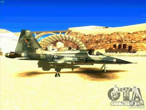 F-5E Tiger para GTA San Andreas vista direita