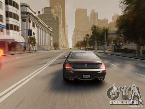 BMW M6 2010 para GTA 4 motor
