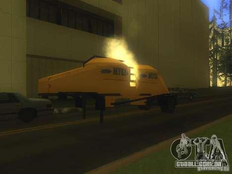 Reboque Mukovoz K4-AMG para GTA San Andreas esquerda vista