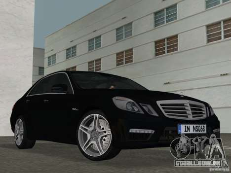 Mercedes-Benz E63 AMG para GTA Vice City vista interior