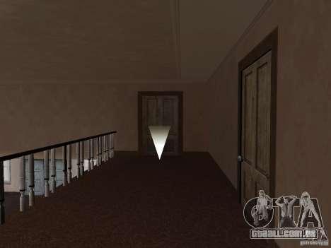 Apartamento secreto para GTA San Andreas por diante tela