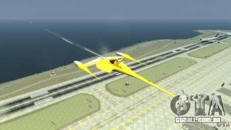 Naboofighter para GTA 4 vista de volta