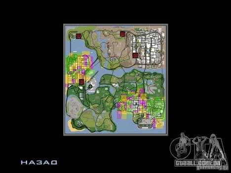 San Fierro and Los Santos Gang Zone para GTA San Andreas