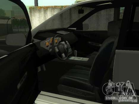 Nissan X-Trail para GTA San Andreas vista superior